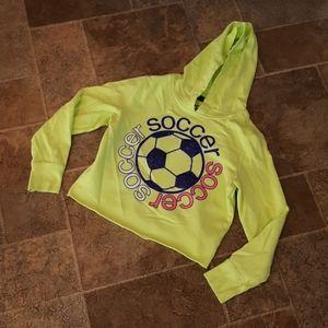 Justice girl's size 10 crop soccer hoodie